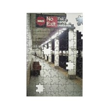 Lonely New York City Subway Rectangle Magnet