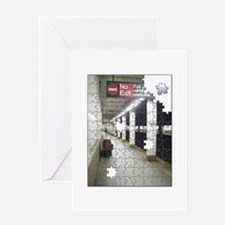 Lonely New York City Subway Greeting Card