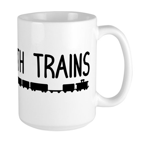 Plays With Trains Large Mug