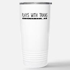 Plays With Trains Travel Mug