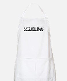Plays With Trains BBQ Apron