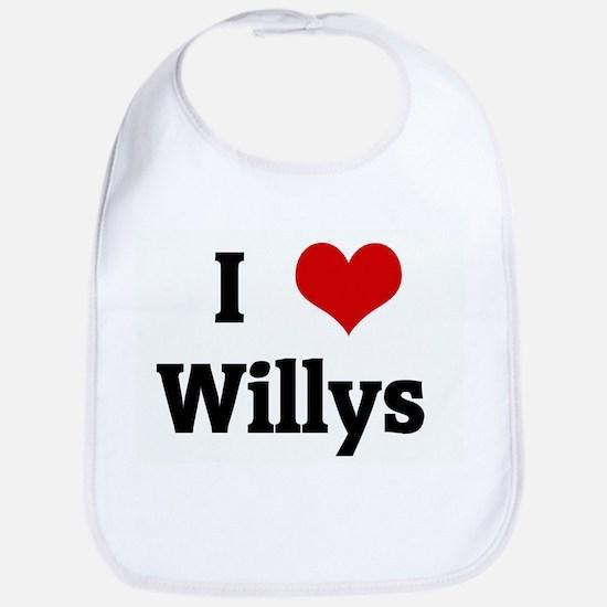 I Love Willys Bib