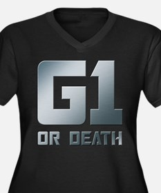 G1 or Death Women's Plus Size V-Neck Dark T-Shirt