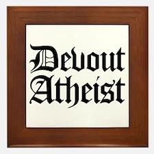 Devout Atheist Framed Tile