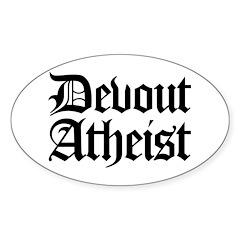 Devout Atheist Oval Sticker (10 pk)