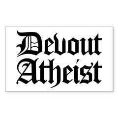 Devout Atheist Rectangle Decal