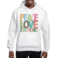 Peace Love Saxophones Hoodie