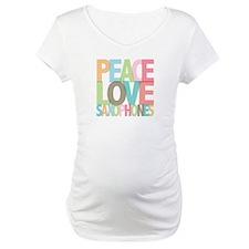 Peace Love Saxophones Shirt