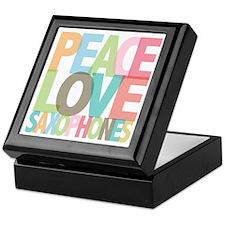 Peace Love Saxophones Keepsake Box