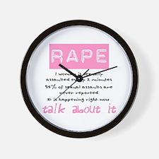 Rape Statistics Wall Clock
