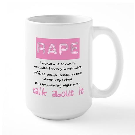 Rape Statistics Large Mug