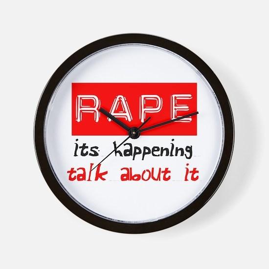 Rape Awareness Wall Clock