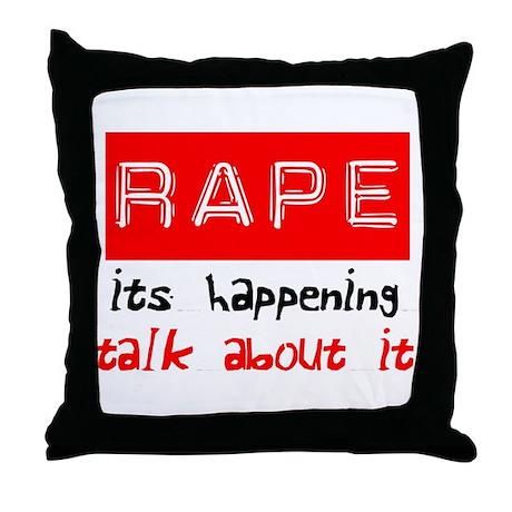 Rape Awareness Throw Pillow