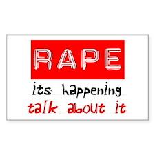Rape Awareness Decal