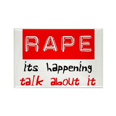 Rape Awareness Rectangle Magnet (100 pack)