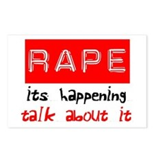 Rape Awareness Postcards (Package of 8)
