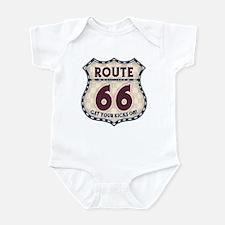 Retro Vintage Rte 66 Infant Bodysuit