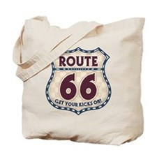 Retro Vintage Rte 66 Tote Bag