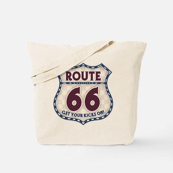 Retro Vintage Rte 66 Tote Bag