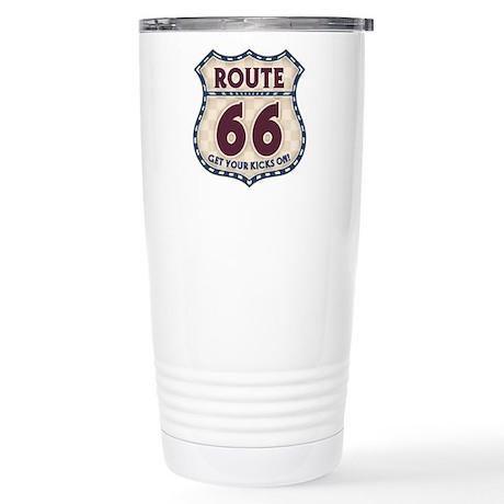 Retro Vintage Rte 66 Stainless Steel Travel Mug
