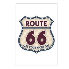 Retro Vintage Rte 66 Postcards (Package of 8)