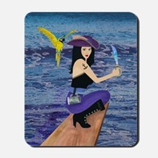 Pirate Wench Walks The Plank Mousepad