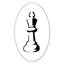 Chess Piece Oval Decal