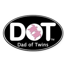Dad of [Female] Twins Oval Decal