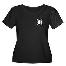 Whisstock Women's +Size Scoop Neck Dark T-Shirt