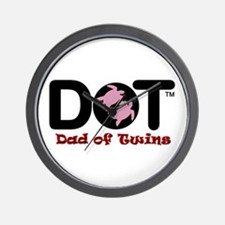 Dad of [Female] Twins Wall Clock