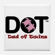 Dad of [Female] Twins Tile Coaster