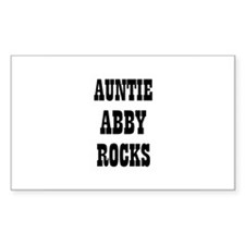 AUNTIE ABBY ROCKS Rectangle Decal