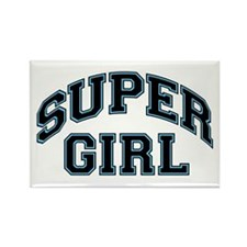 Super Girl Rectangle Magnet