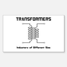 Transfomers Inductors of Different Size Decal