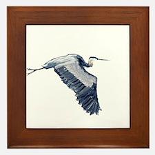 heron design Framed Tile
