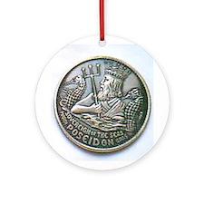 Poseidon Doubloon Ornament (Round)