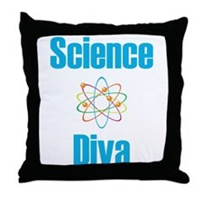 Science Diva Throw Pillow
