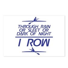 Through Rain... I Row Postcards (Package of 8)