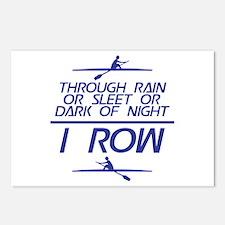 Through Rain... I Row Postcards (Package of 8)