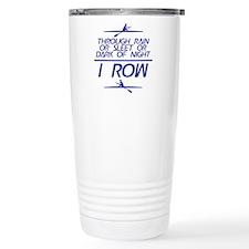 Through Rain... I Row Travel Mug