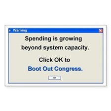 Spending Beyond Capacity Rectangle Decal