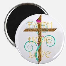 """Faith Hope Love 2.25"""" Magnet (10 pack)"""