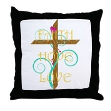 Faith Hope Love Throw Pillow