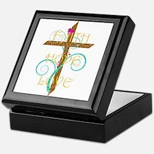 Faith Hope Love Keepsake Box