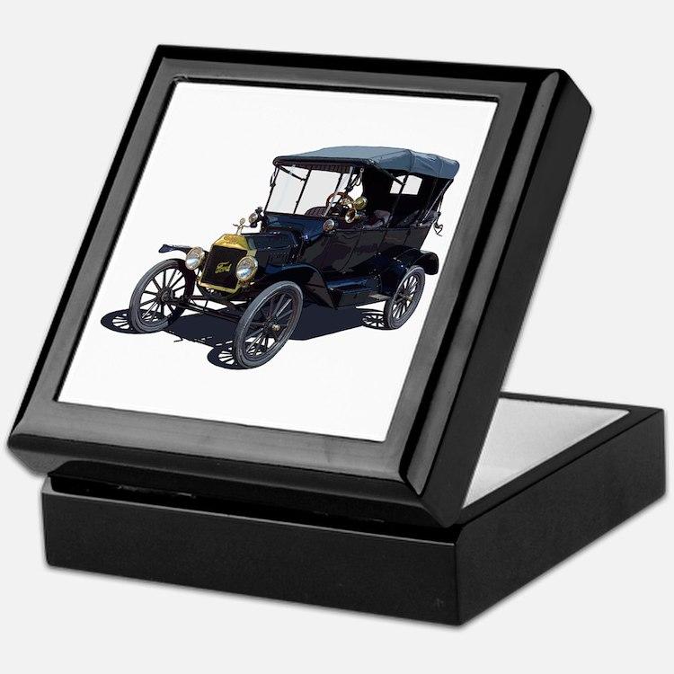 Cute Antique car Keepsake Box