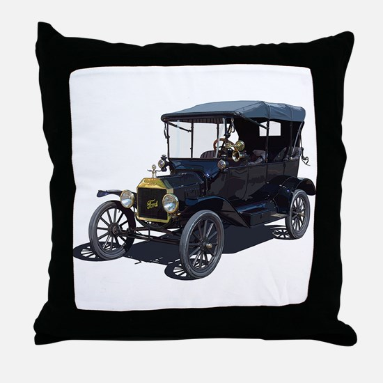 Cute Antique car Throw Pillow