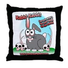 Rabid Rabbit Throw Pillow