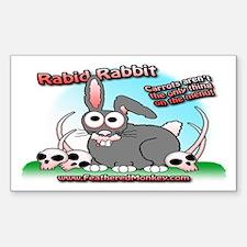 Rabid Rabbit Rectangle Decal