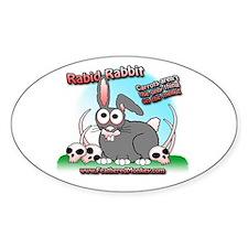 Rabid Rabbit Oval Decal