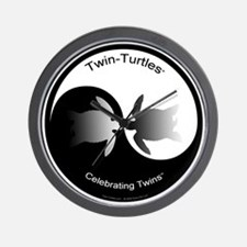 Twin Yin Yang Wall Clock